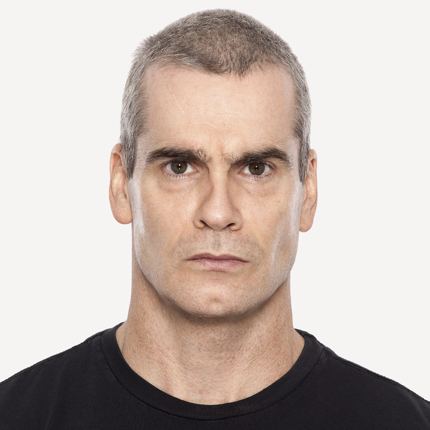 Henry Rollins with makeup.