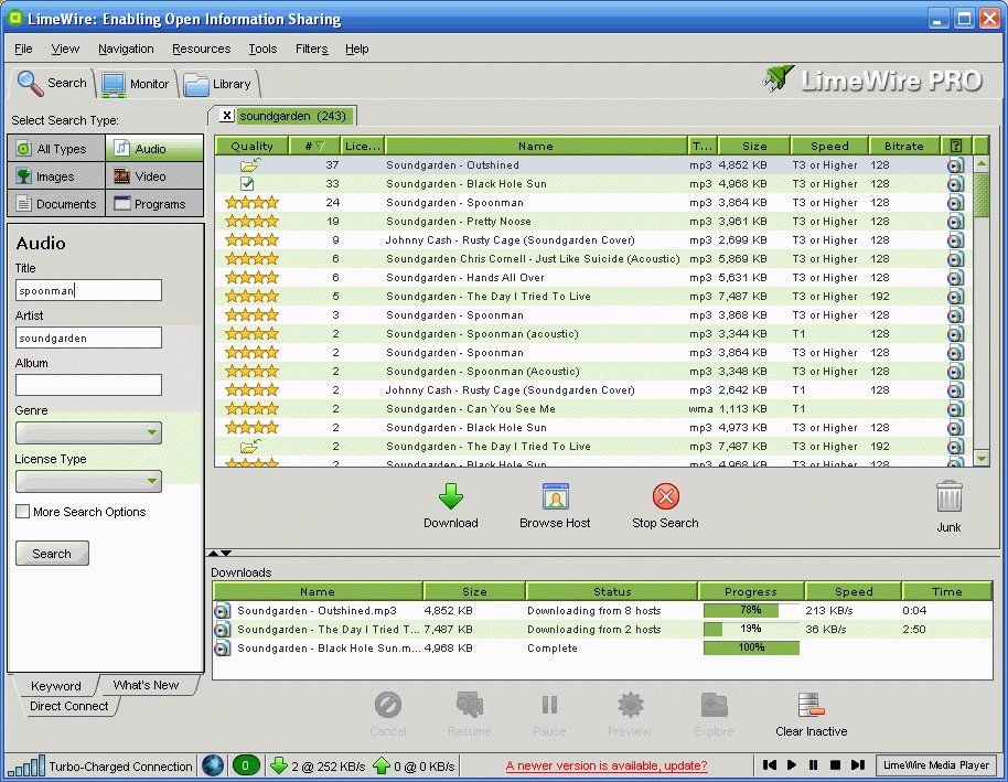 Limewire light Free Download