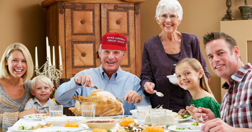 Why hasn 39 t donald trump condemned my uncle jason 39 s racist for What do people eat on thanksgiving