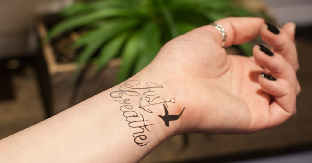 Wrist Tattoo Doing Poor Job of Reminding Katie to Just Breathe