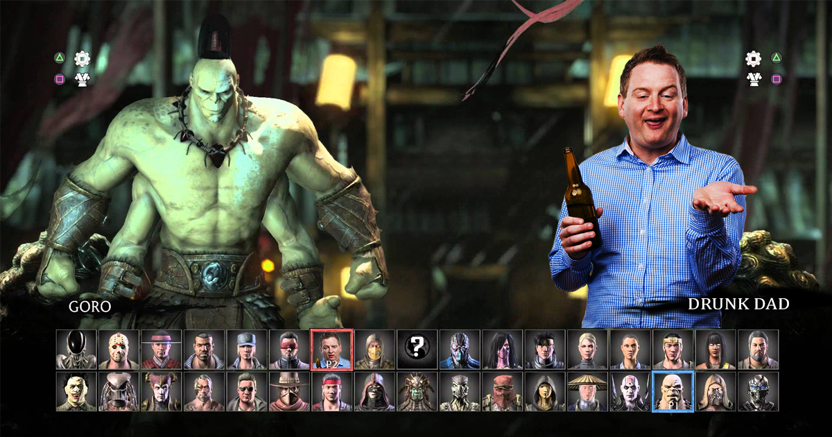 Mortal Kombat DLC Introduces Newest Fighter, Drunk Father