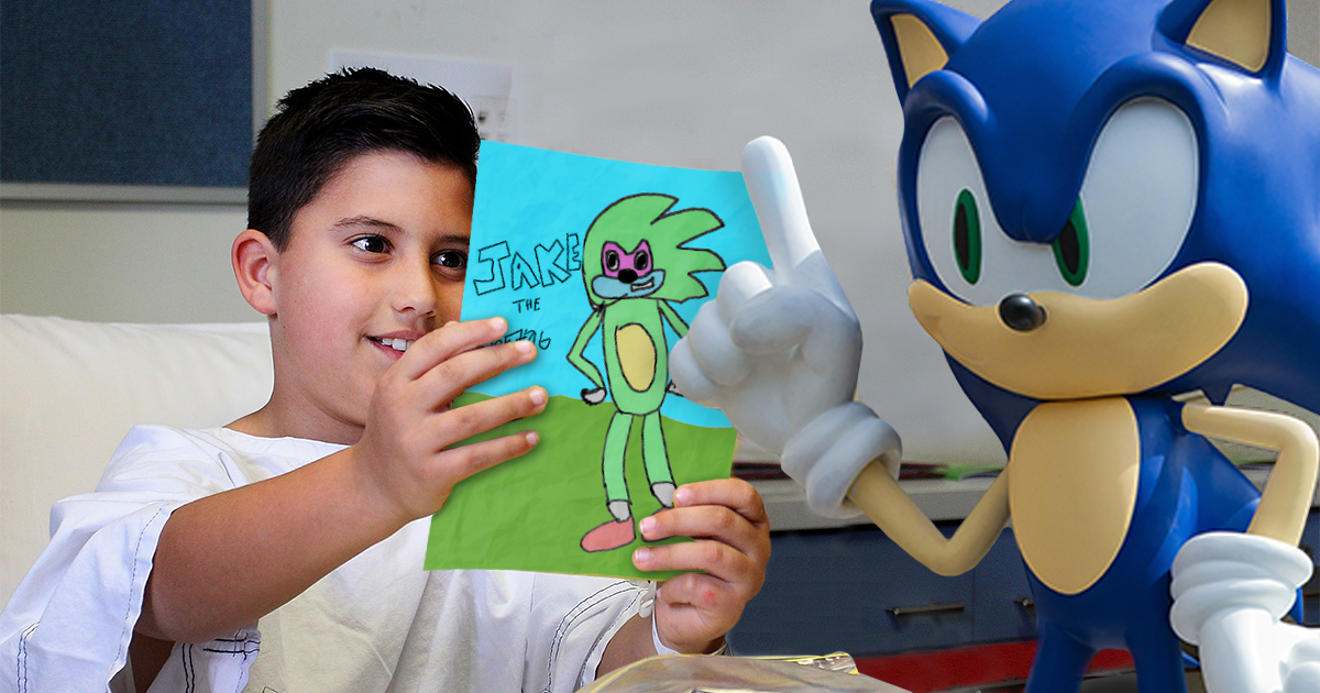 Sonic The Hedgehog Visits Sick Deviantart User For Make A Wish To Tell Him His Oc Is Canon