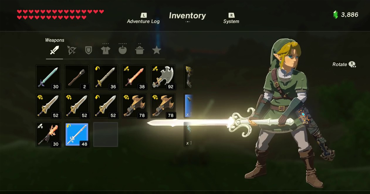 breath of the wild player finally acquires rare
