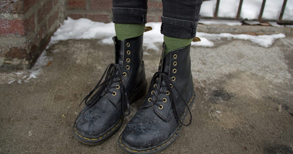 762cb4ec7040 Local Punk Spends 10th Winter Failing to Realize Doc Martens Are Not Winter  Boots