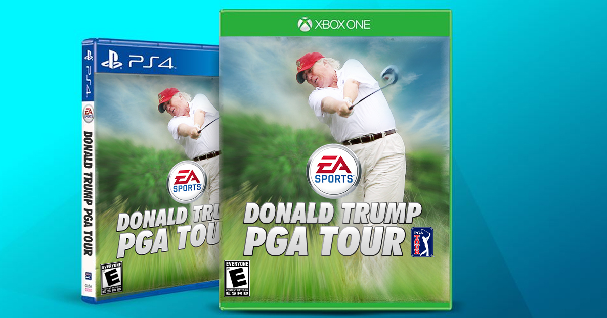 Trump Announces Himself as Next Cover Star for EA Sports PGA ... on nba golf store, callaway golf store, wilson golf store, mizuno golf store, tour golf store, college golf store, usga golf store, ppg golf store, nike golf store,