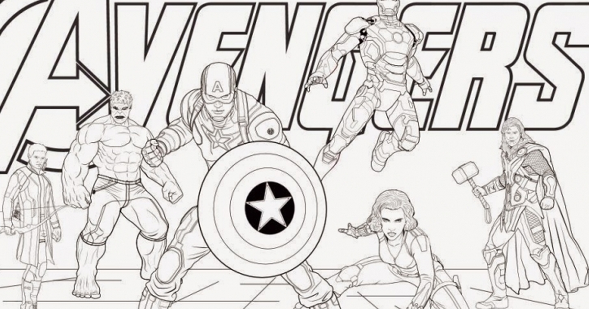 Marvel Vision Coloring Pages