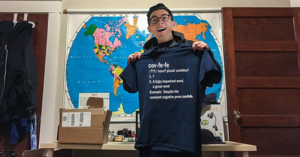 covfefe, trump, shirt, mail, president, meme