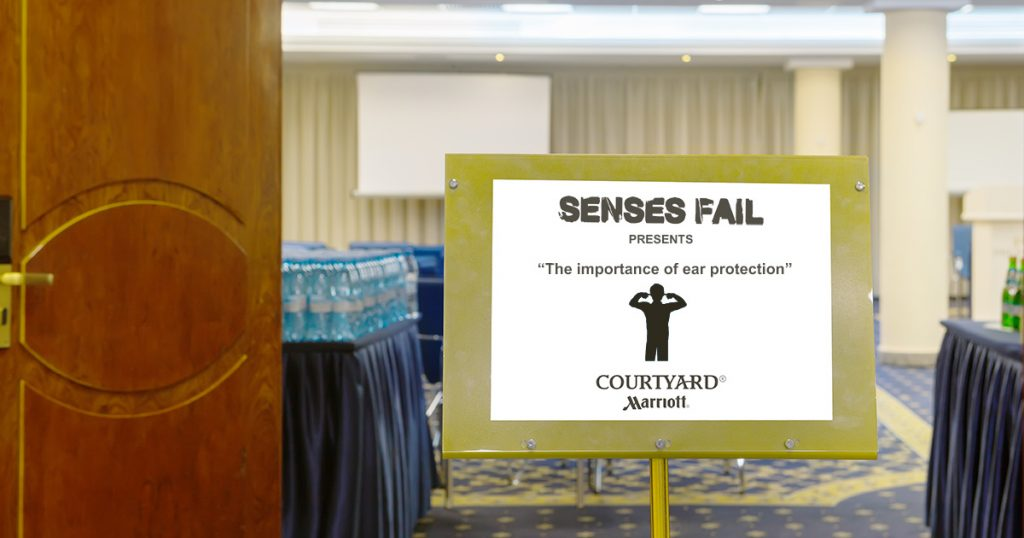 senses fail, ear, protection, seminars