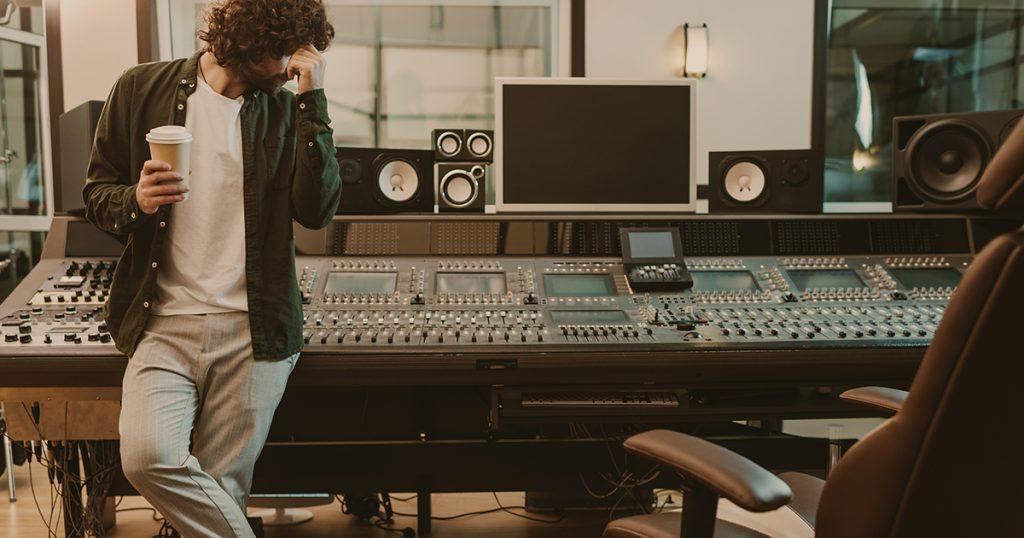 producer, knobs, band, recording, studio