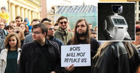 door guy, protest, bots, automated