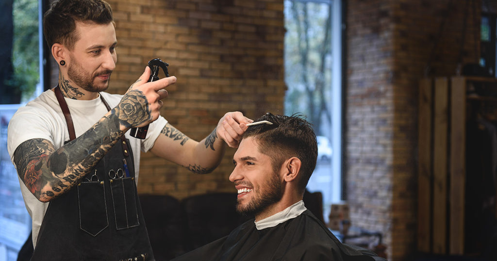 barber, haircut, tattooed
