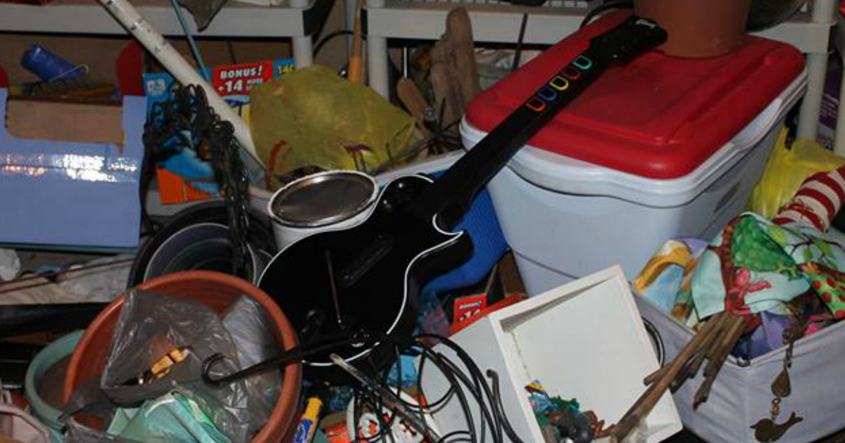 Guitar Hero Controller Relocated From Closet to Garage