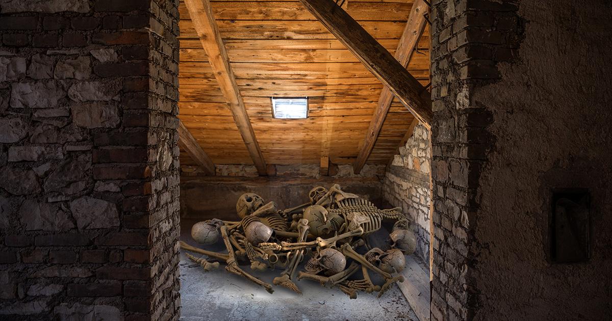 attic, haunted, dead, bodies