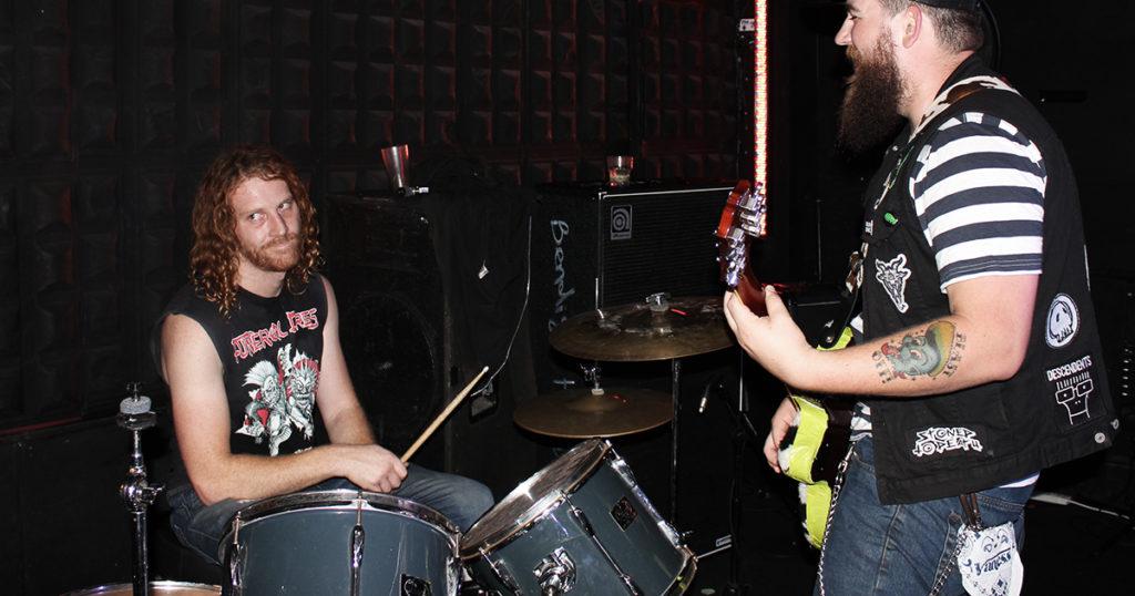 drummer, singer, audience