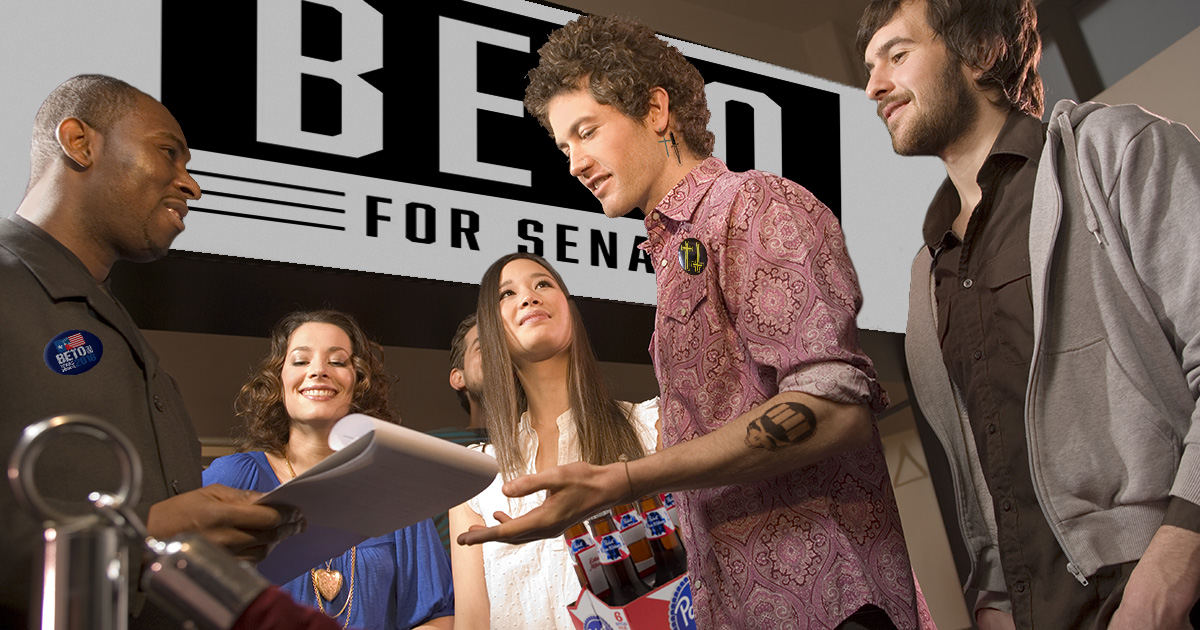 beto, fundraiser, beer, donation