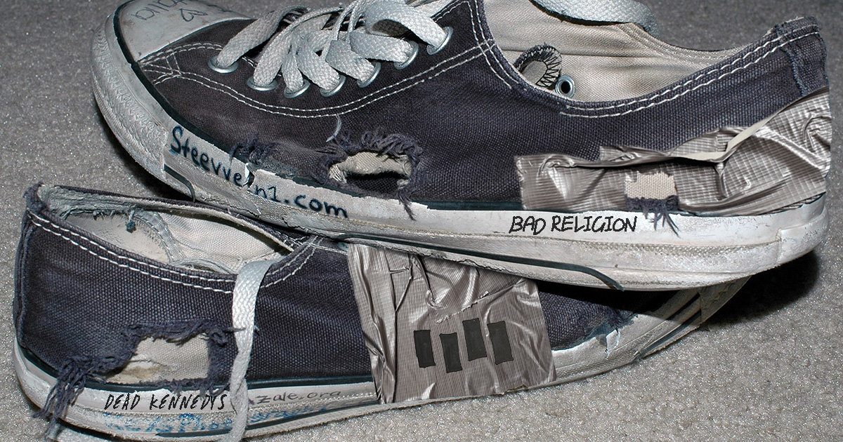 0fe8ad250ad8 Converse Unveils Line of Pre-Duct Taped and Sharpied Shoes