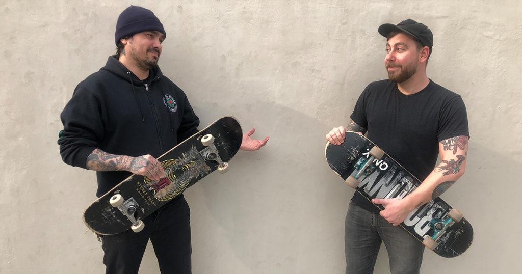skate or die, tattoo, threatening