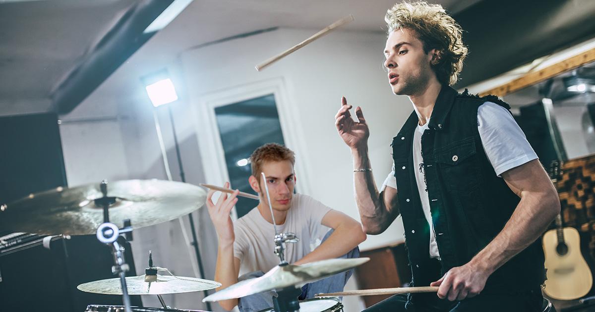 drummer, lesson, sticks