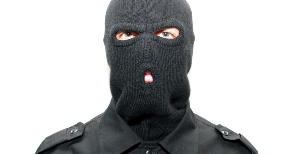 masked intruder, mistaken, mask
