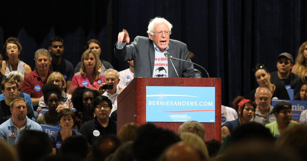 bernie, shirt, stage, democrat, president