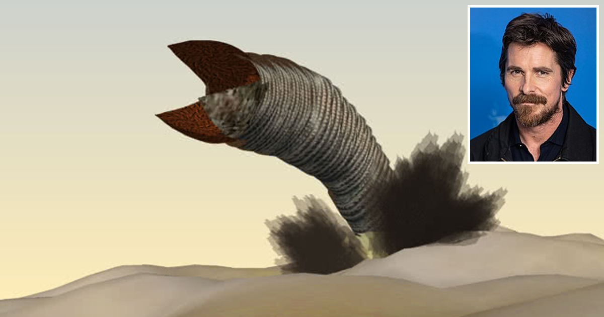Christian Bale Gains 450,000 Pounds to Play Sandworm in 'Dune' Remake