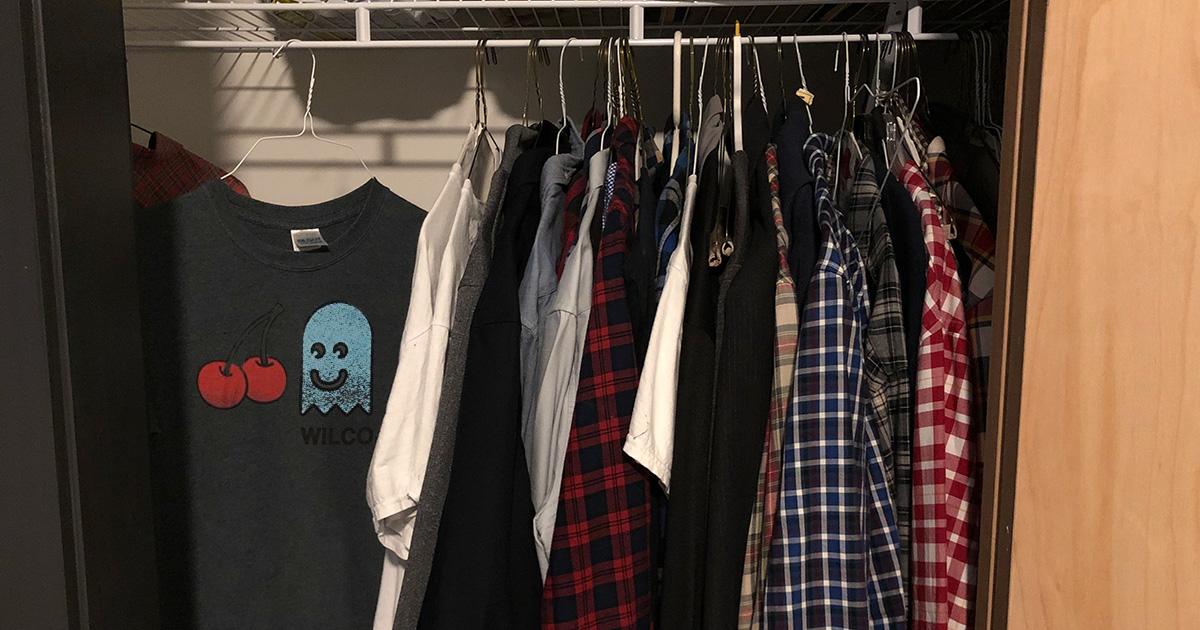 wilco, t shirt, closet