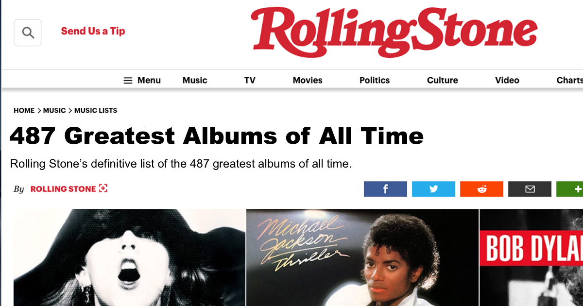 rolling stone, ranked, albums, budget