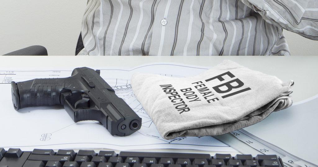 fbi, gun, shirt