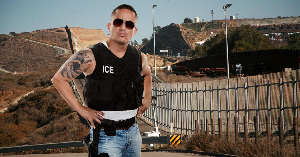 ice, agent, abolish ice, migrants