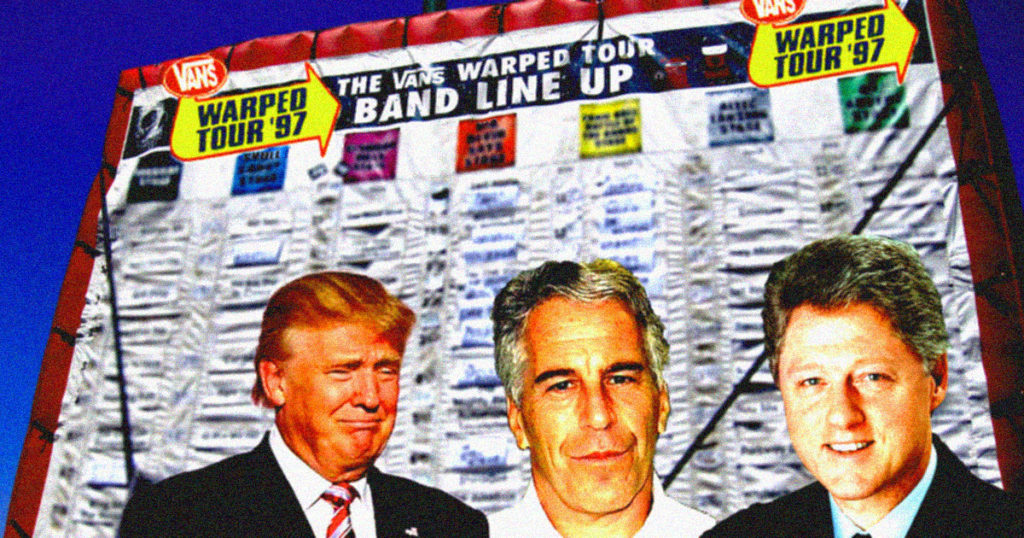 warped, tour, warped tour, 97, clinton, epstein, trump