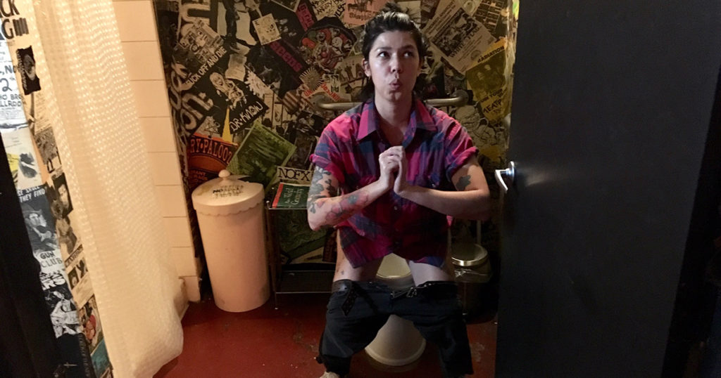 woman, squat, toilet