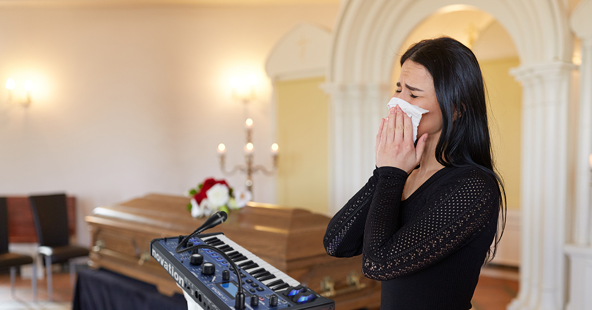 vocoder, eulogy, funeral