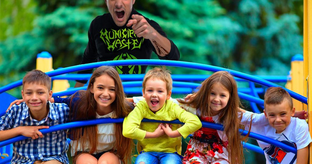 heckler, playground, kids