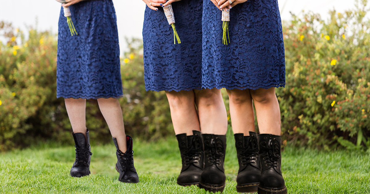 doc martens, boots, bridesmaid