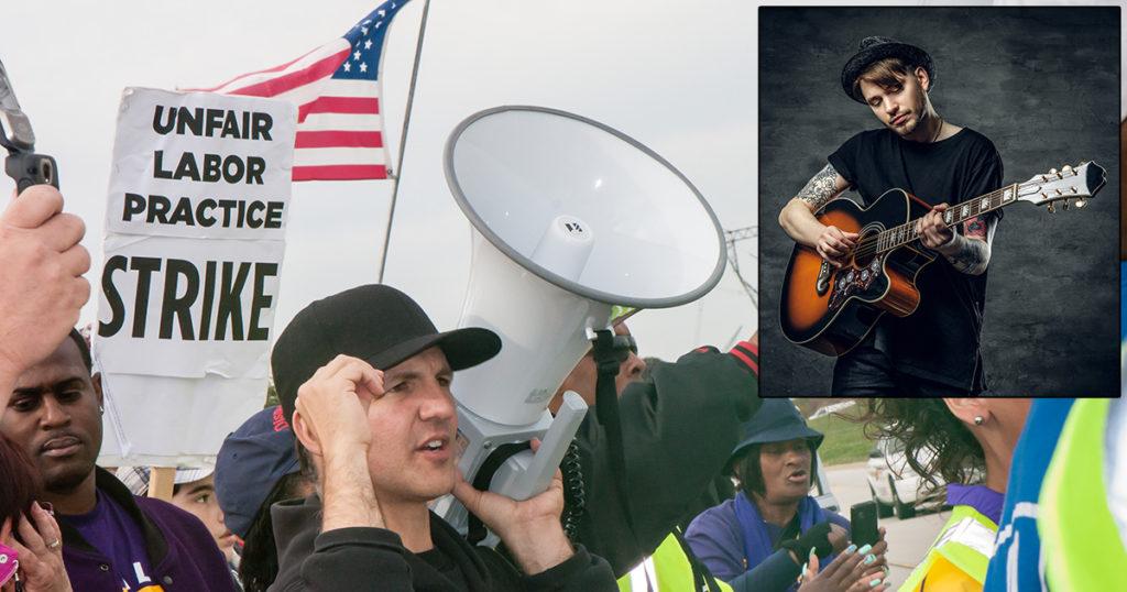 gm, strike, union, folk, singer