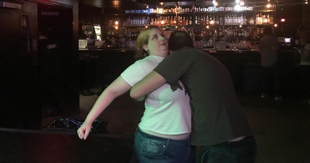 guy, hug, woman