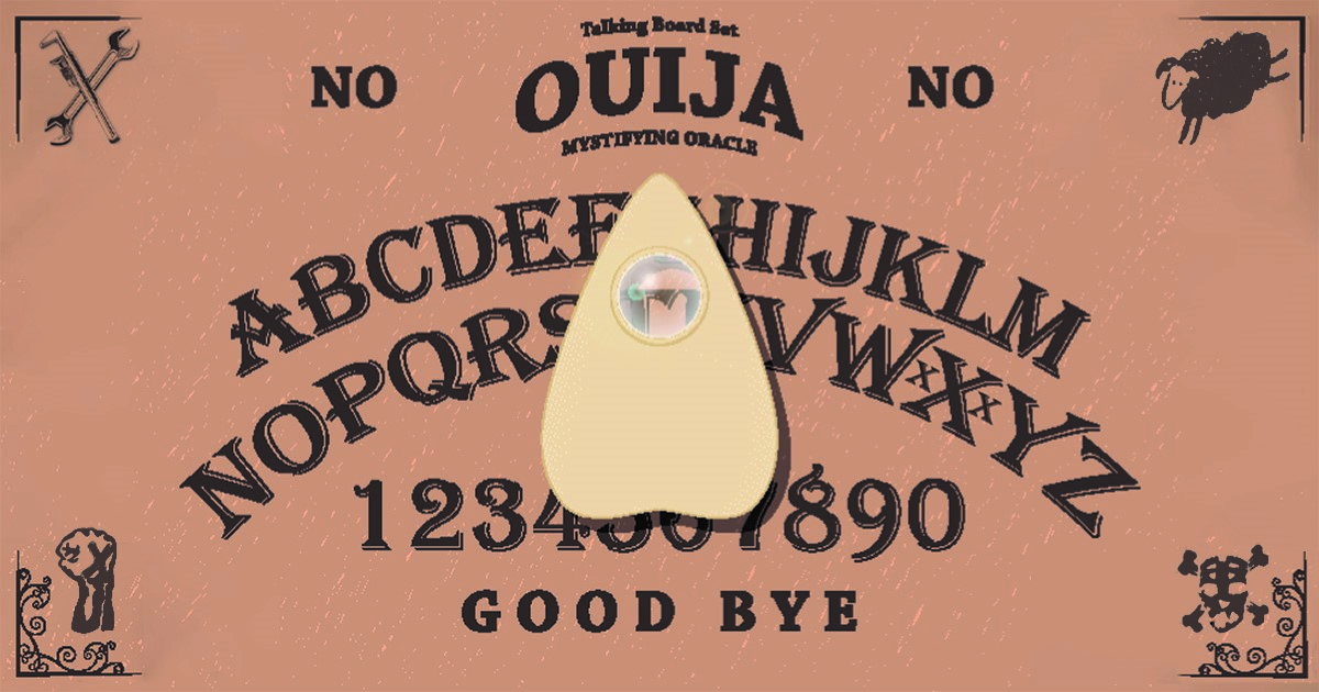 Straight Edge Ouija Board Just Says No