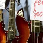 guitar center, bass, female