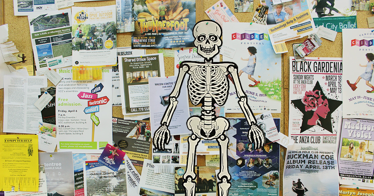 paper, skeleton, bulletin board, headline, library