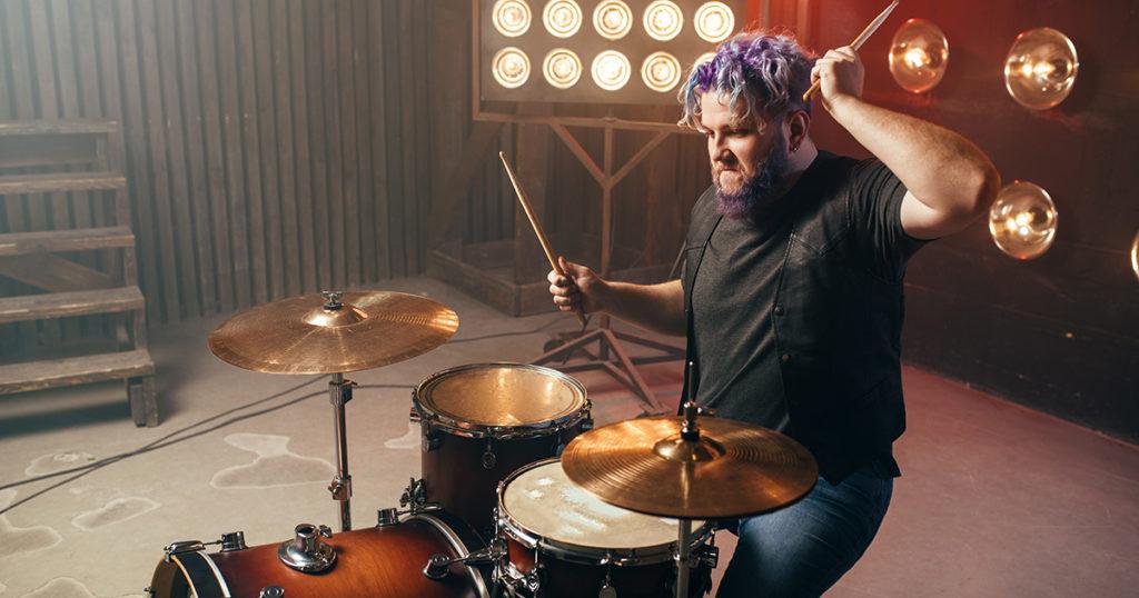 fatso, fat, drummer