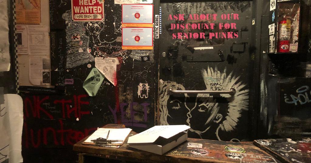 senior, discount, punk, venue