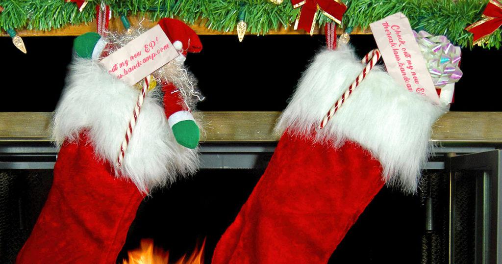 santa, christmas, stocking, bandcamp
