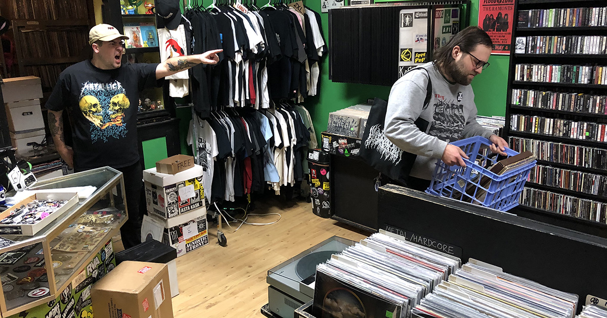 record store, employee, clerk, friendly, helpful, work, fired, job