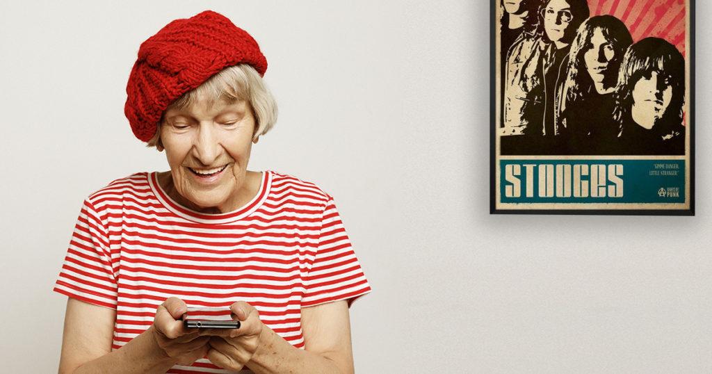Grandma, touring, tour, van, borrow, band