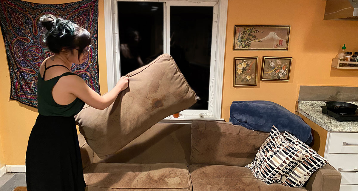 couch, cushion, flip
