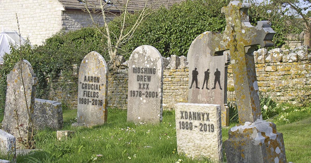 Death, graveyard, tomb stone, straight edge, tattoo