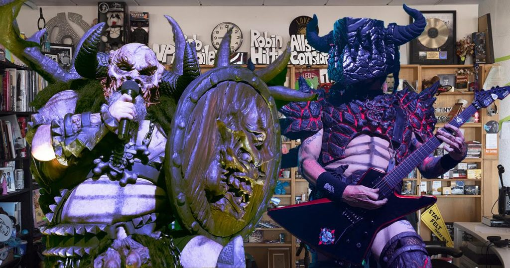 GWAR, tiny desk, horror, metal, gross