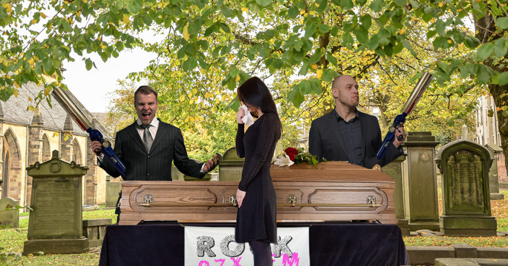 funeral, radio, dead, panty, funny