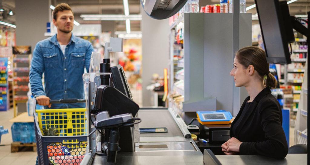 cashier, garbage, work, coronavirus