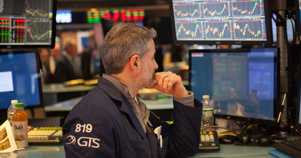 stock photo, market, trading floor